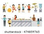 school flat set. isolated on... | Shutterstock .eps vector #474859765
