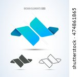 abstract vector jewelry and... | Shutterstock .eps vector #474861865