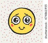 hand drawn emoticon. emoji.... | Shutterstock .eps vector #474861955
