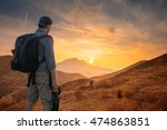 young man  traveling... | Shutterstock . vector #474863851