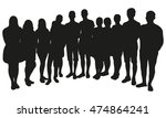 group of people silhouette | Shutterstock .eps vector #474864241