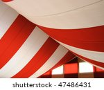 marquee roof of draped canvas | Shutterstock . vector #47486431