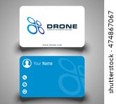business card. drone logo.... | Shutterstock .eps vector #474867067