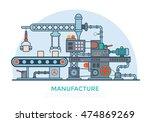 linear flat industrial... | Shutterstock .eps vector #474869269