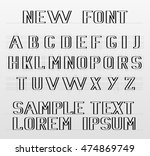 the new font english alphabet | Shutterstock .eps vector #474869749