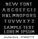 the new font english alphabet | Shutterstock .eps vector #474869779