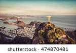 aerial panorama of botafogo bay ... | Shutterstock . vector #474870481