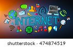 hand drawn internet... | Shutterstock . vector #474874519