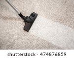 vacuum cleaner vacuuming dusty... | Shutterstock . vector #474876859