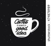 coffee cup vintage vector... | Shutterstock .eps vector #474878989