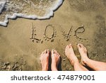 Word Love On The Sand Coast An...