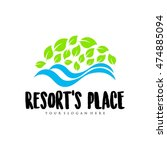 travel agency  tropical resort  ... | Shutterstock .eps vector #474885094