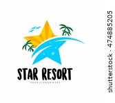travel agency  tropical resort  ... | Shutterstock .eps vector #474885205