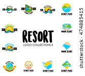 travel agency  tropical resort  ... | Shutterstock .eps vector #474885415