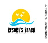 travel agency  tropical resort  ... | Shutterstock .eps vector #474886879