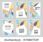 abstract vector layout...   Shutterstock .eps vector #474887539