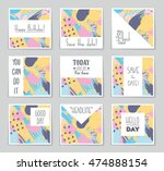 abstract vector layout... | Shutterstock .eps vector #474888154