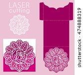 vector die laser cut envelope... | Shutterstock .eps vector #474888319