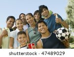 friends and family at park | Shutterstock . vector #47489029