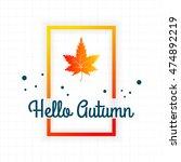 vector watercolor paint autumn... | Shutterstock .eps vector #474892219