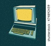 old personal computer. vector... | Shutterstock .eps vector #474892459
