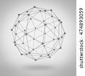 global network concept on grey... | Shutterstock . vector #474893059