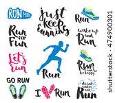 running man marathon logo... | Shutterstock .eps vector #474900301