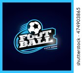 modern professional football... | Shutterstock .eps vector #474903865