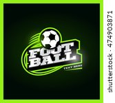 modern professional football... | Shutterstock .eps vector #474903871