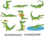 Cartoon Crocodiles Characters...