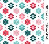 vintage floral pattern  vector...   Shutterstock .eps vector #474906589