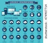 vpn   24 icon set   virtual... | Shutterstock .eps vector #474907714