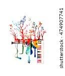 creative music concept vector...   Shutterstock .eps vector #474907741