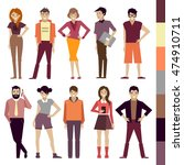 people. set. colorful. vector... | Shutterstock .eps vector #474910711