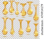 set of transparent hanging... | Shutterstock .eps vector #474914179