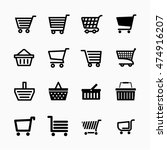 shopping cart icons set  add to ... | Shutterstock .eps vector #474916207