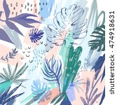 creative universal floral... | Shutterstock .eps vector #474918631