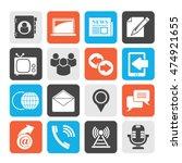 silhouette media and... | Shutterstock .eps vector #474921655