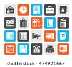 silhouette business and office... | Shutterstock .eps vector #474921667