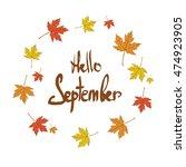 "the inscription ""hello... | Shutterstock .eps vector #474923905"