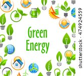 green energy eco environment... | Shutterstock .eps vector #474924559