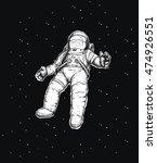 cosmonaut falls into space on... | Shutterstock .eps vector #474926551