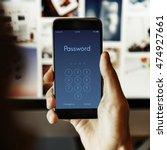 access identification password... | Shutterstock . vector #474927661