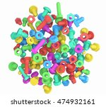 pile of colorful mix of toy... | Shutterstock . vector #474932161