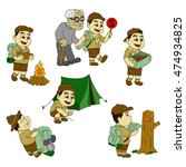 boy scouts vector illustration | Shutterstock .eps vector #474934825