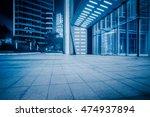 night view of empty brick floor ... | Shutterstock . vector #474937894