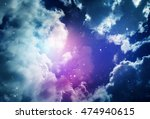 space of night sky with cloud... | Shutterstock . vector #474940615