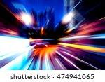 moving traffic light trails at... | Shutterstock . vector #474941065