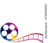 abstract film reel colorful low ... | Shutterstock .eps vector #474944095