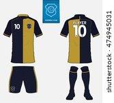 set of soccer jersey or...   Shutterstock .eps vector #474945031